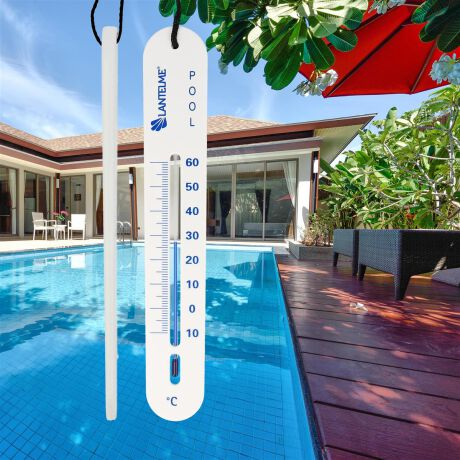 Poolthermometer sinkend Farbe weiß