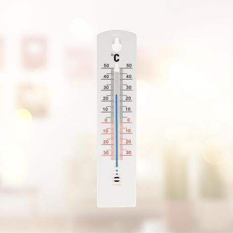 Thermometer 20 cm Kunststoff weiss