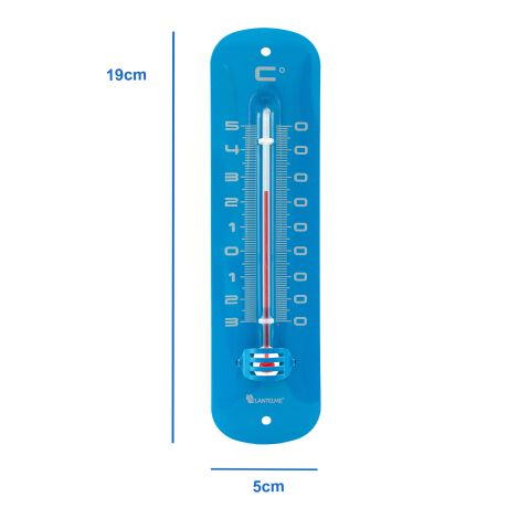 Metall Thermometer in blau