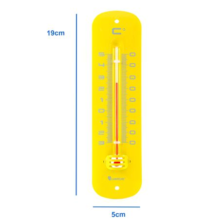 Metall Thermometer in gelb